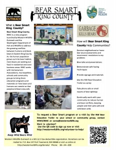 Bear Smart King County flyer revised page 1 and 2 October 28 2015 Final with WDFW logo